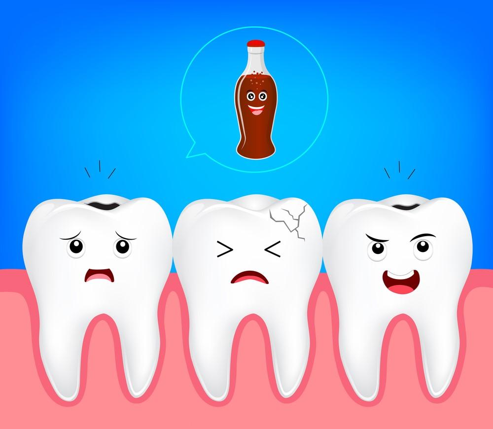 تاثیر نوشابه روی دندان